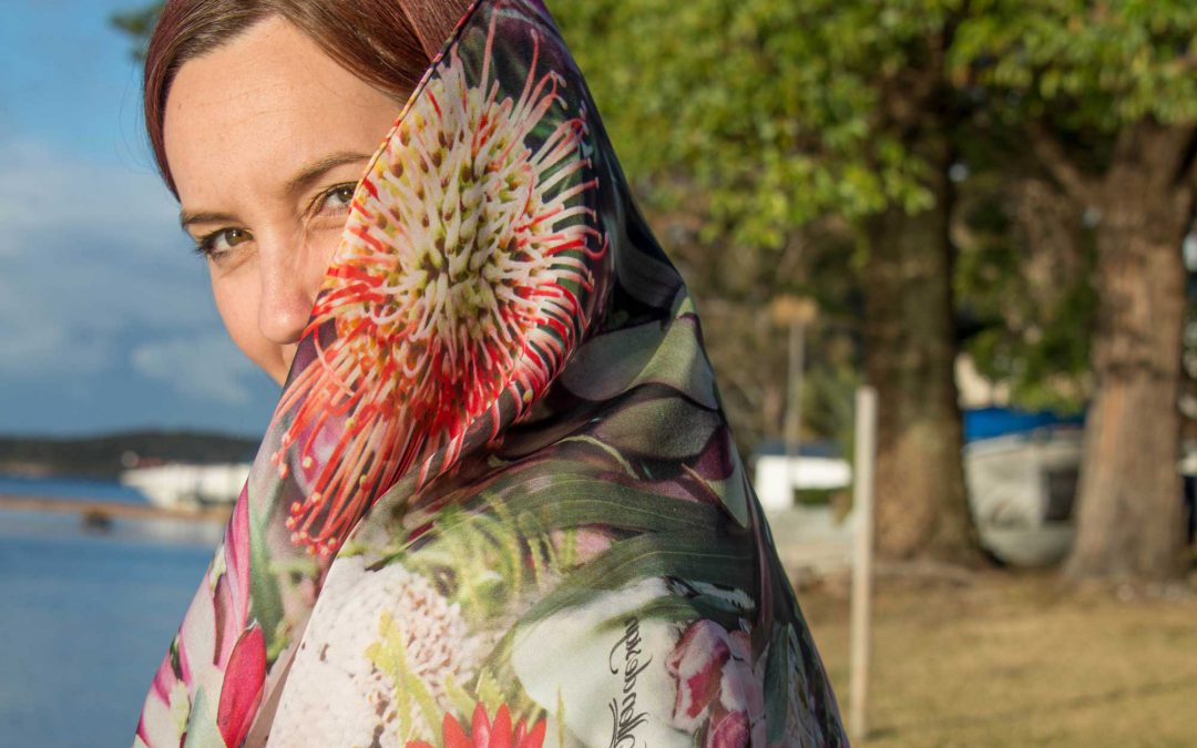 Australian designed, 100% pure silk scarves with nature & enviromental themes